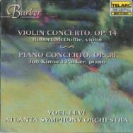 Barber Violin Concerto Op 14 Piano Concerto Op 38